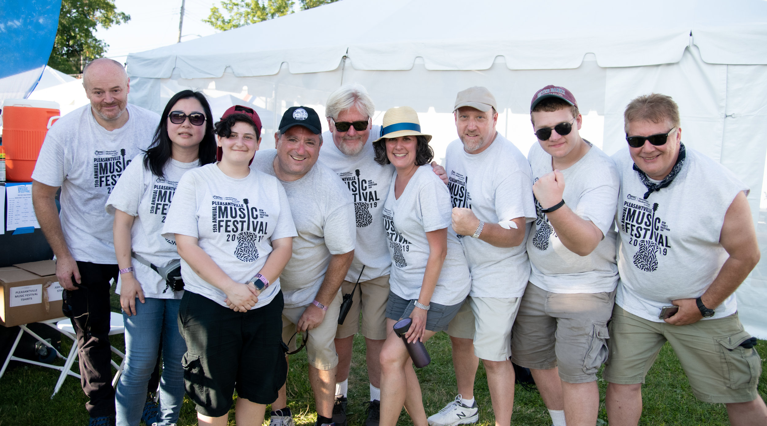 Our Main Stage Crew (before the long, hot day) © 2019 Lynda Shenkman