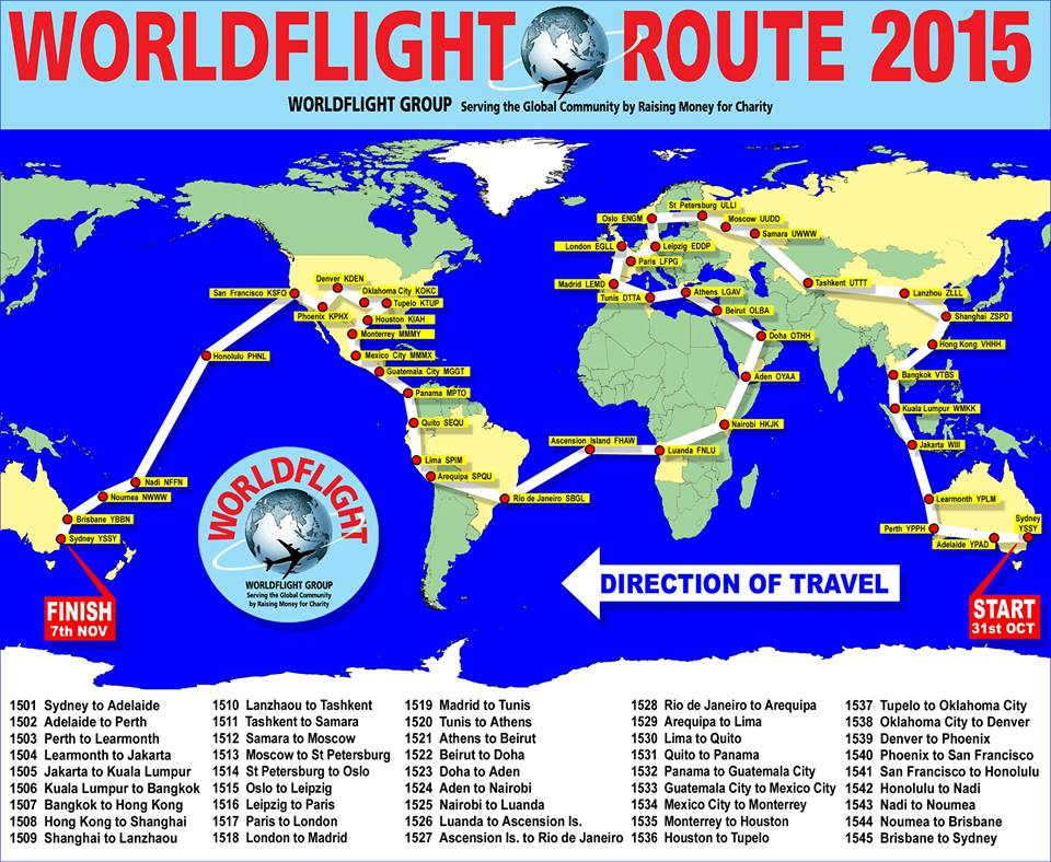 Click on map for PDF containing timings