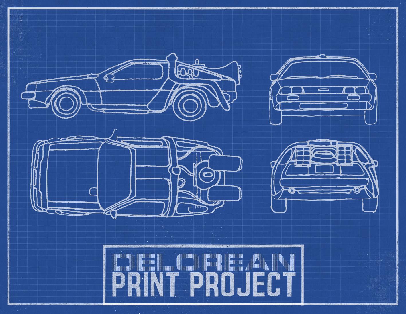 DeLorean Print Project
