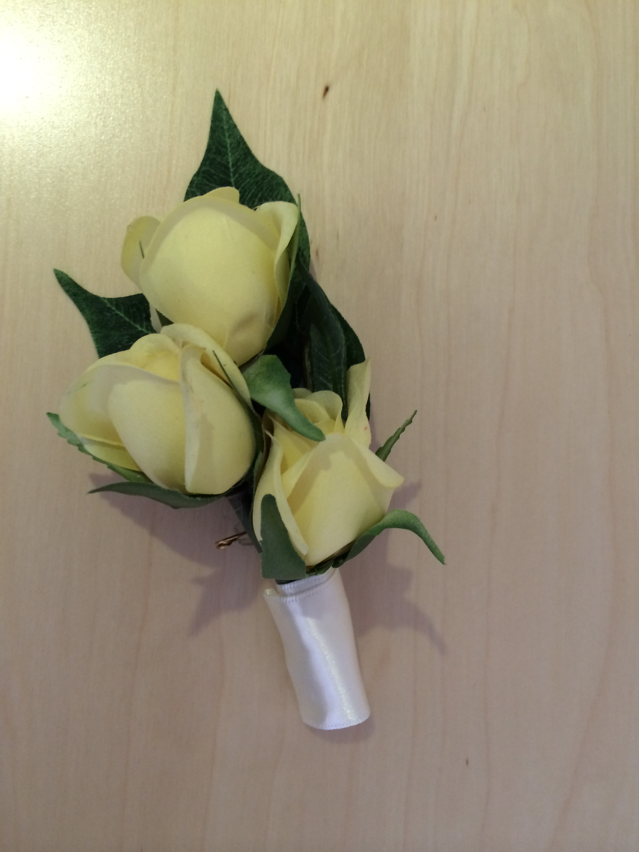 Ladies Corsages - Three Small Lemon Roses