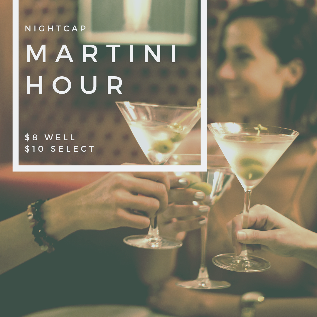 Martini Hour - At NightcapTues-Thurs | 6pm - 7pm