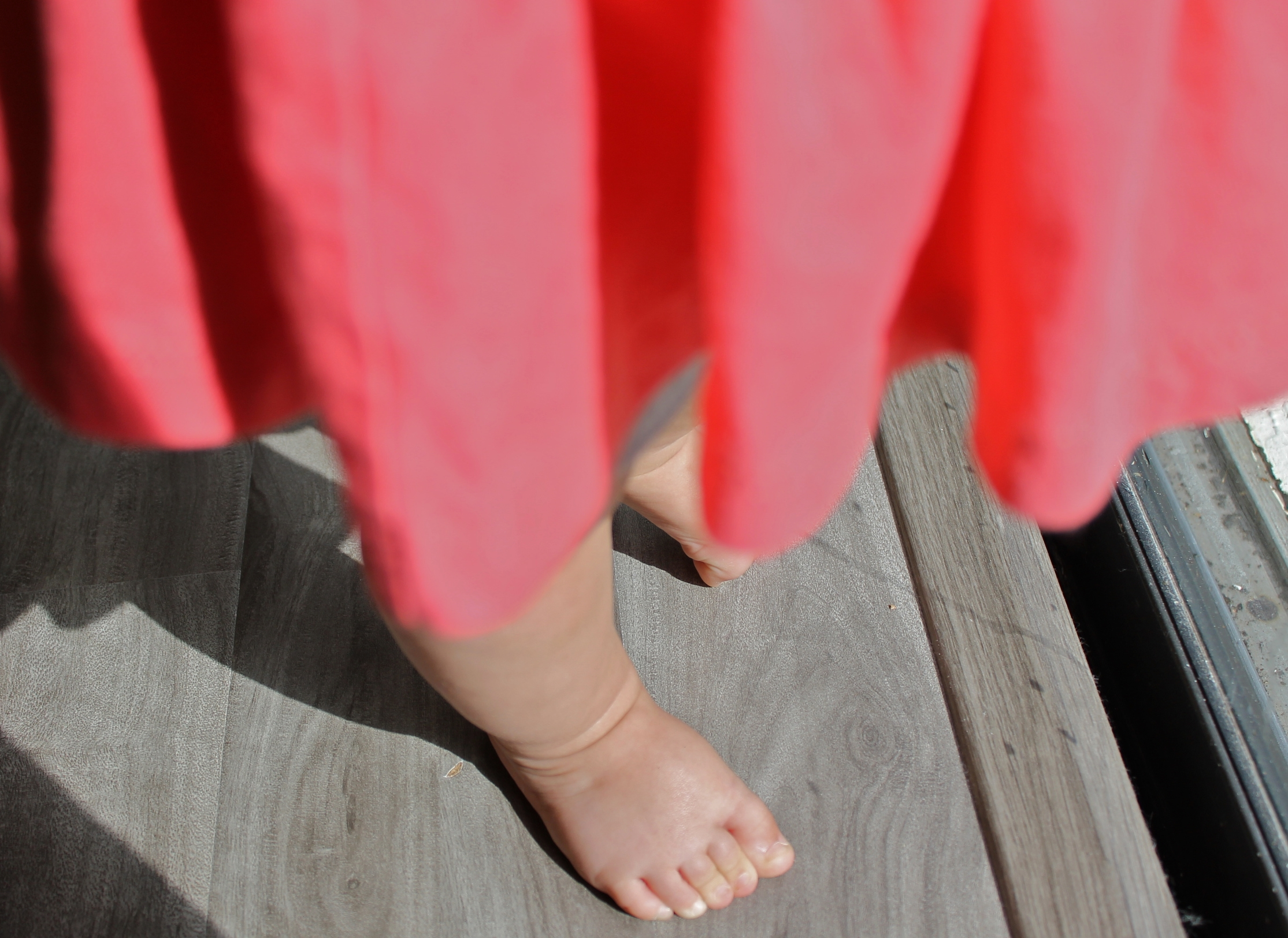 11 months, baby feet