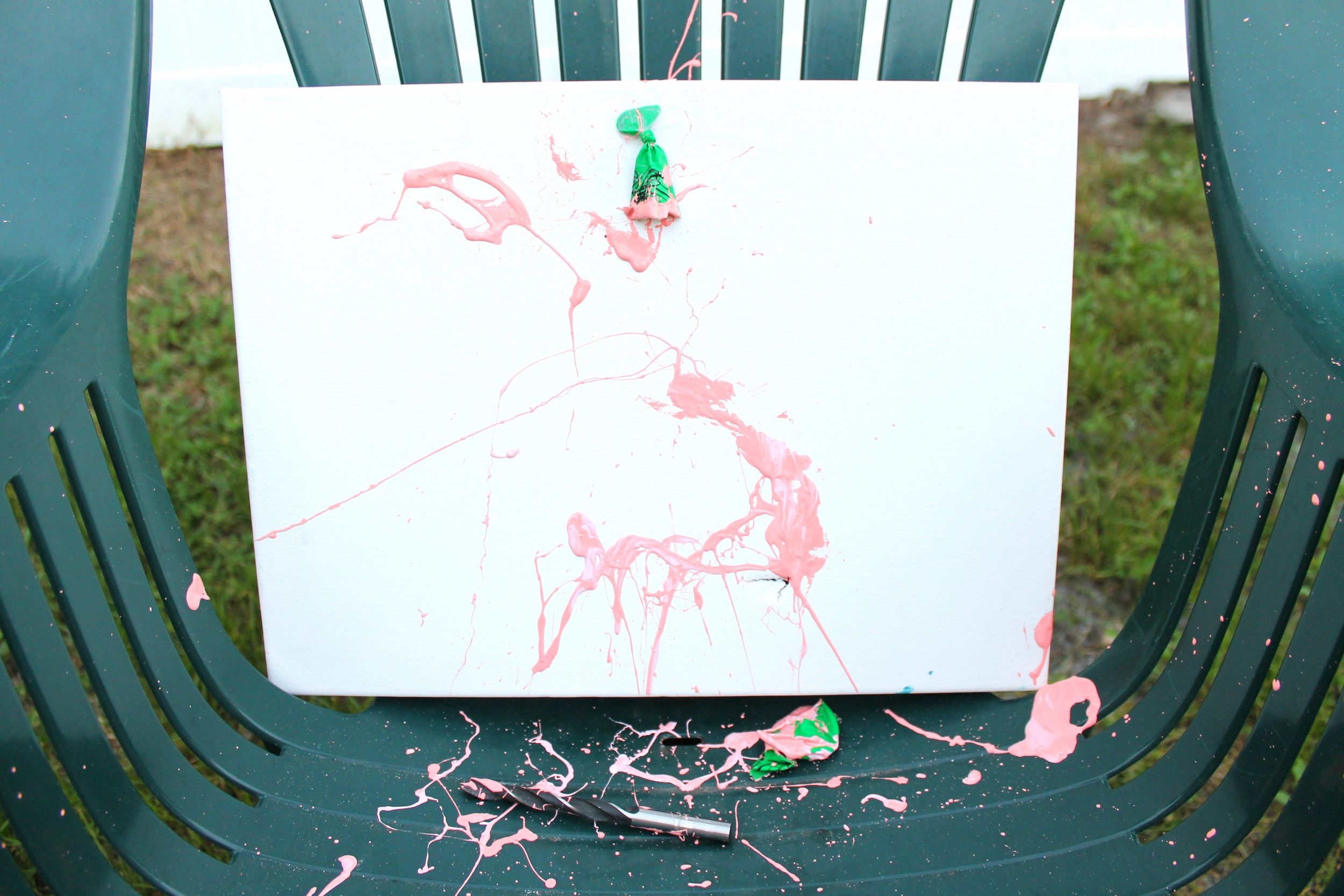 pink baby gender reveal paint