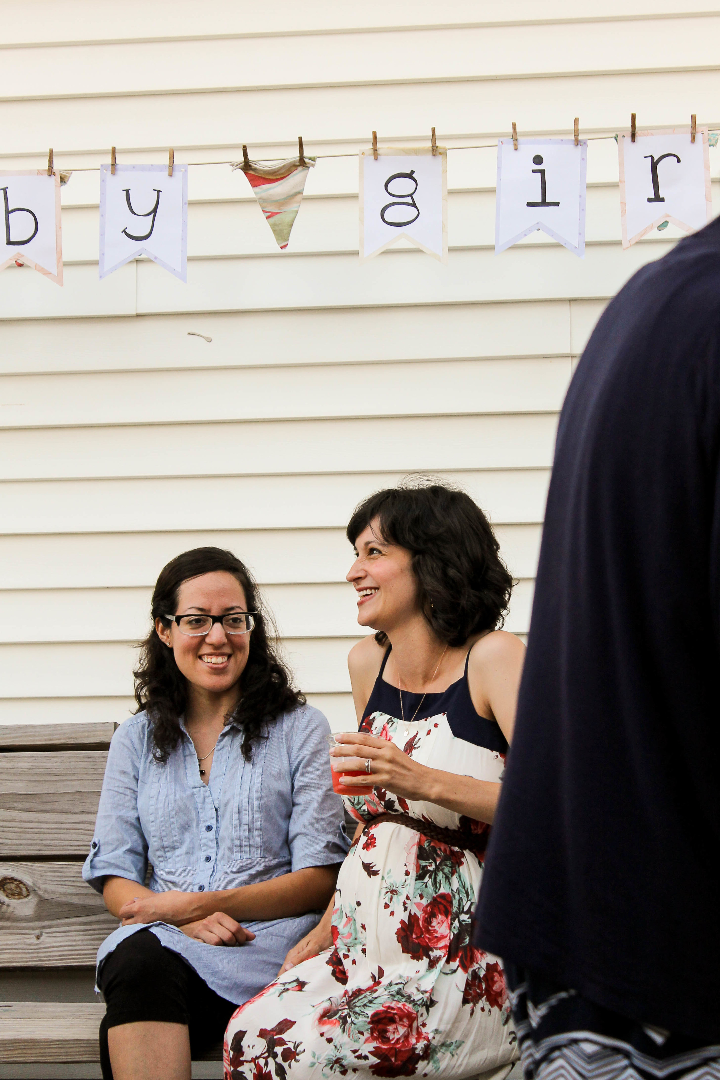 relaxed, outdoor baby shower