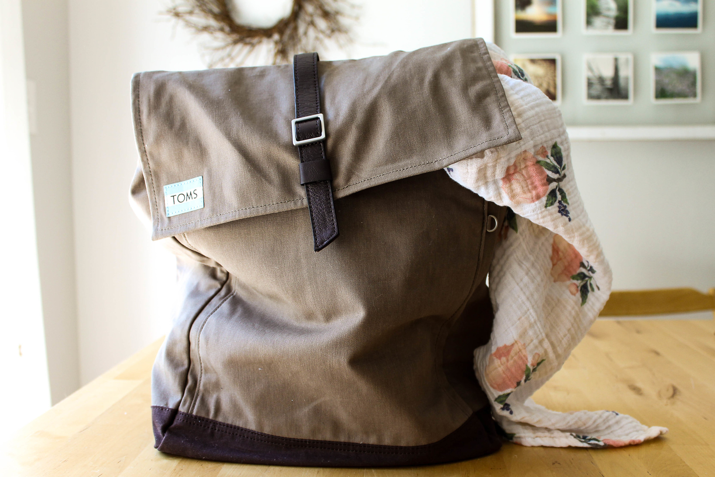 favorite products for second baby | TOMS backpack