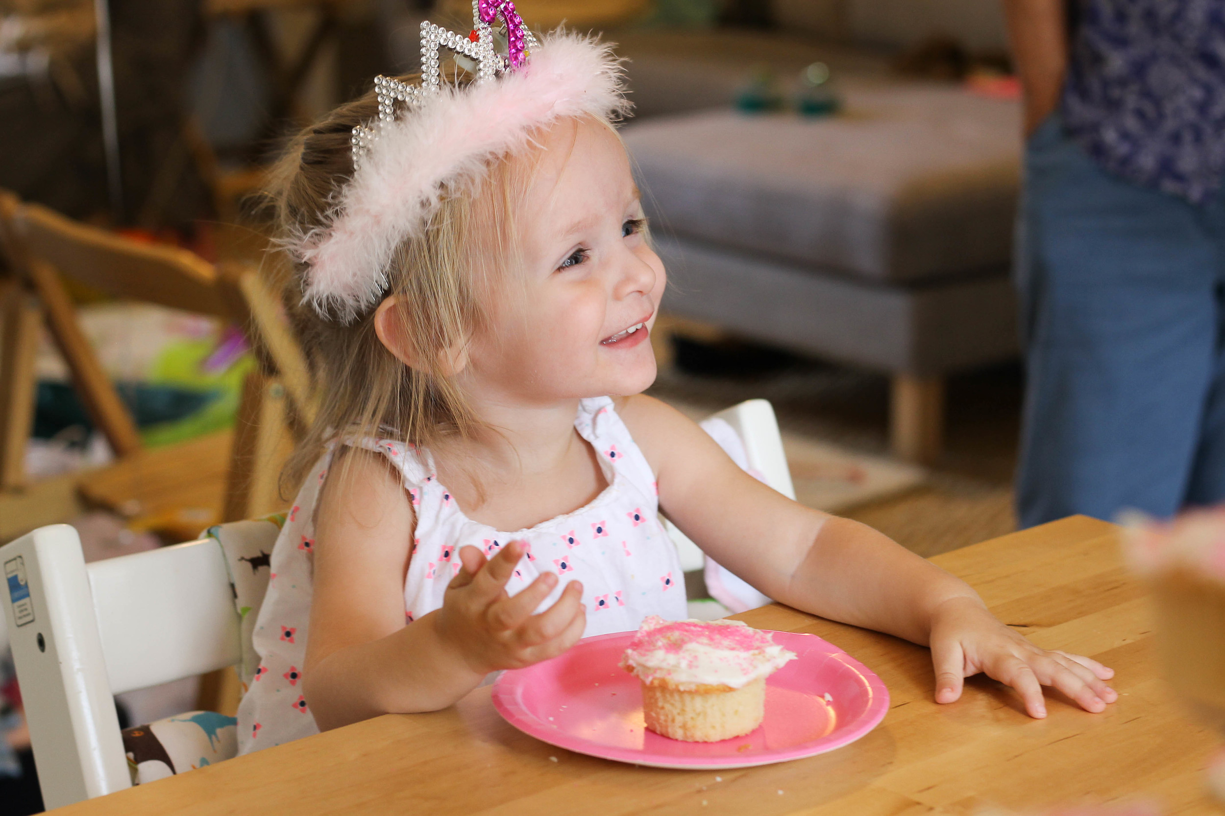 second birthday, Evie turns two