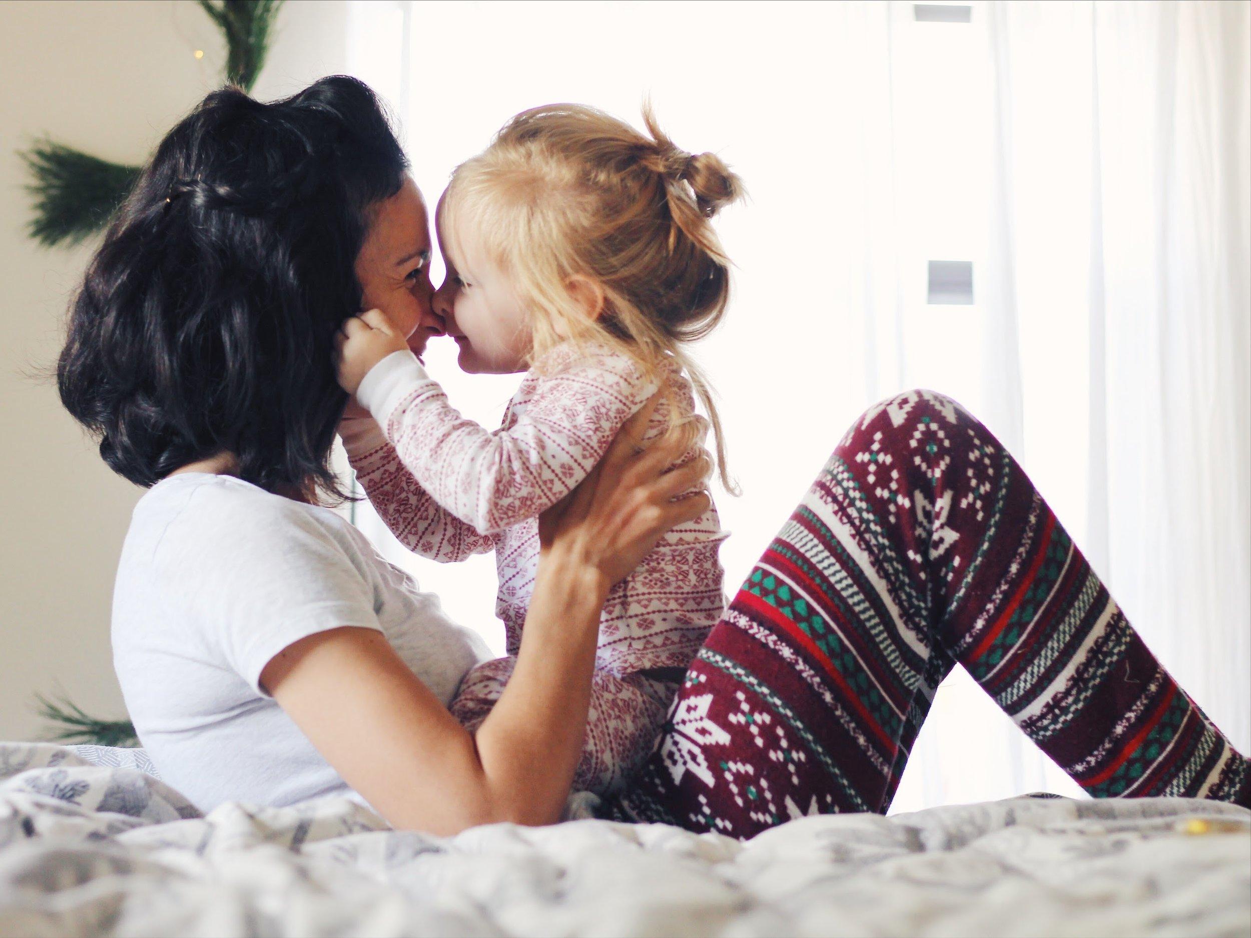 mom and daughter christmas pajamas