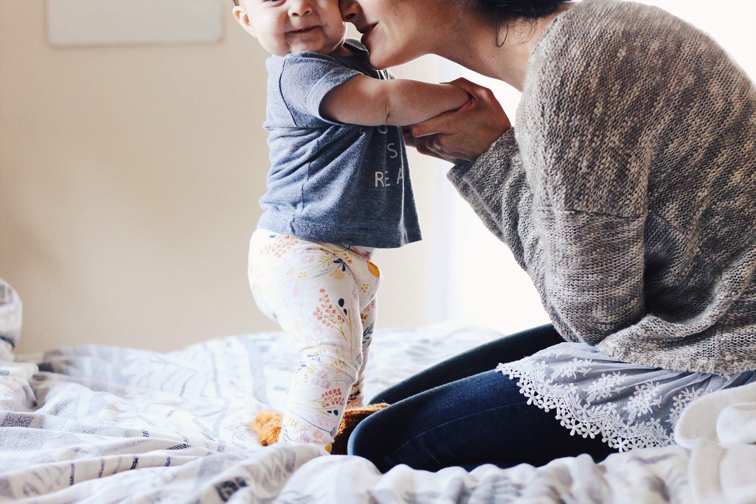encouragement and having joy in motherhood even when it's hard | Feathers and Roots
