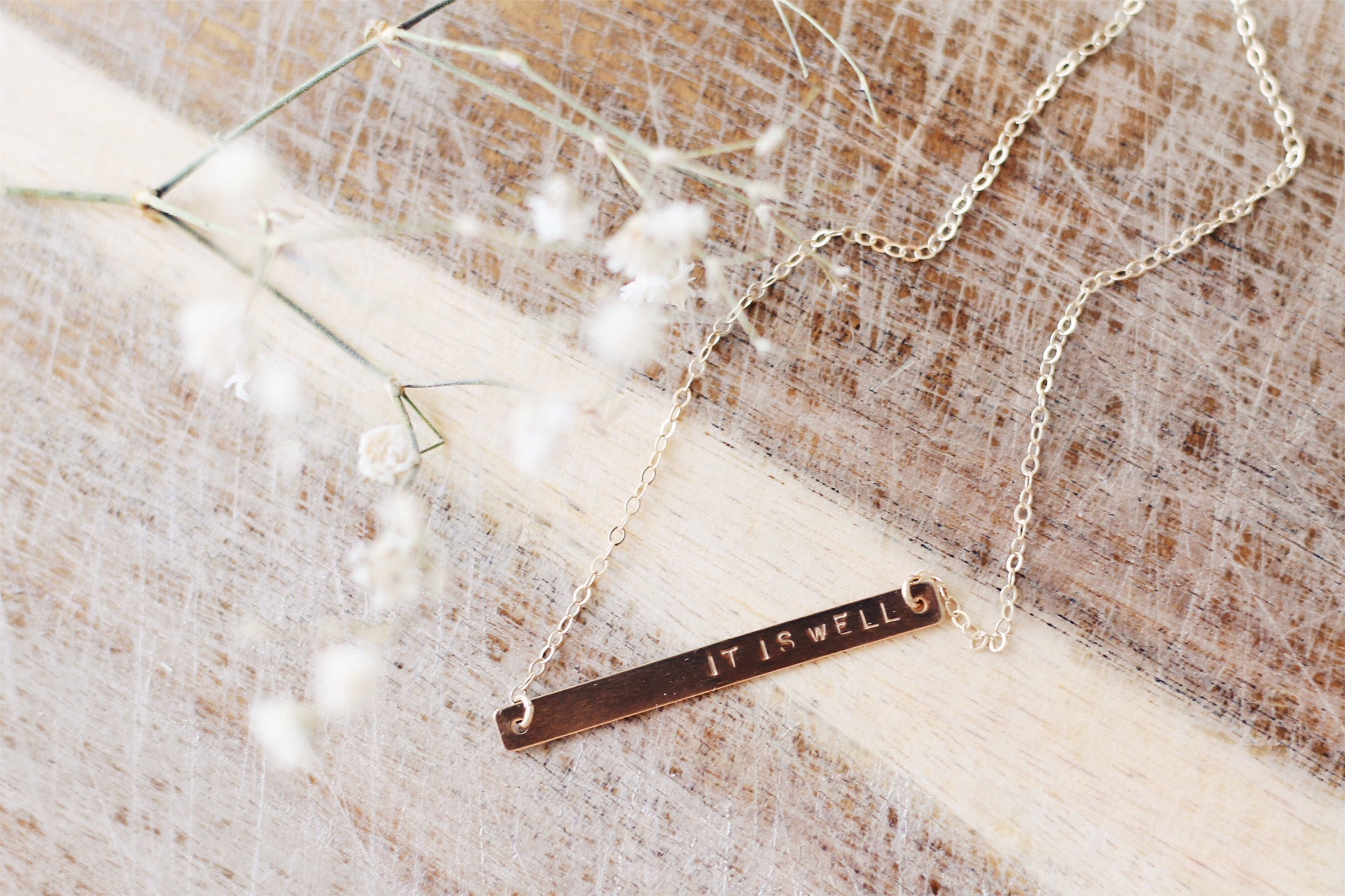 Elle Lane Designs skinny gold bar necklace, Mother's Day gift ideas | Feathers and Roots