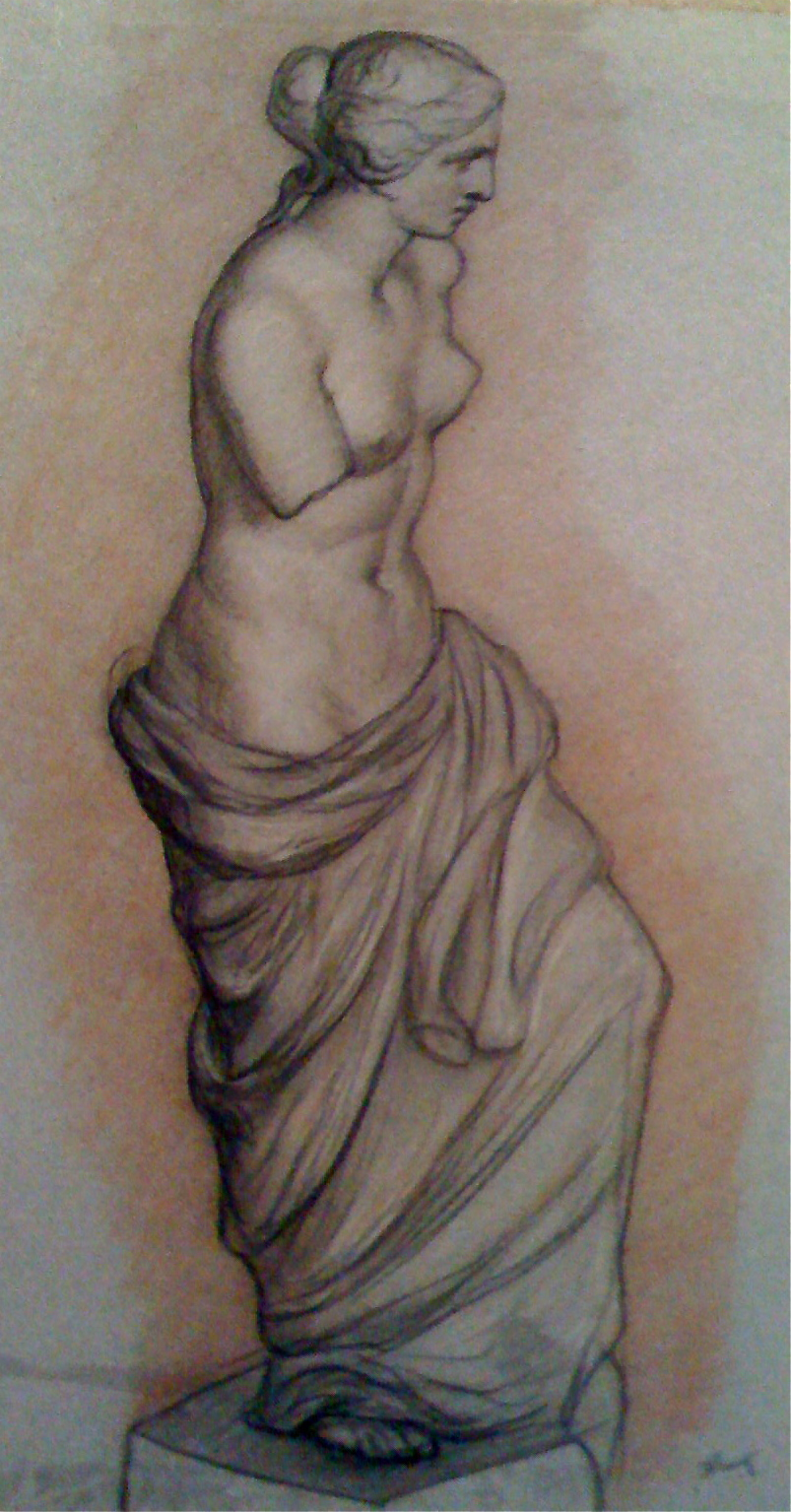 Title: Study in Rome Year: c. 1839 Medium: Charcoal and Red Chalk drawing on rare Venice Blue Paper Image size: 25 x 15