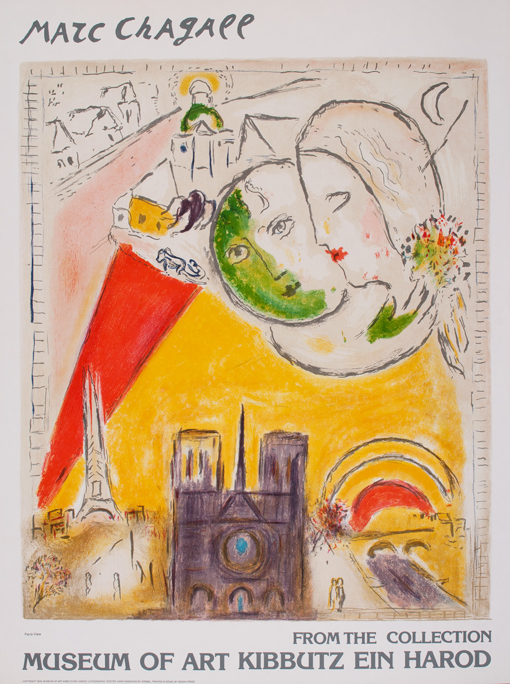 Title: PARIS VIEW Year: 1979 Medium: Lithograph Image size: 23 X 27in.