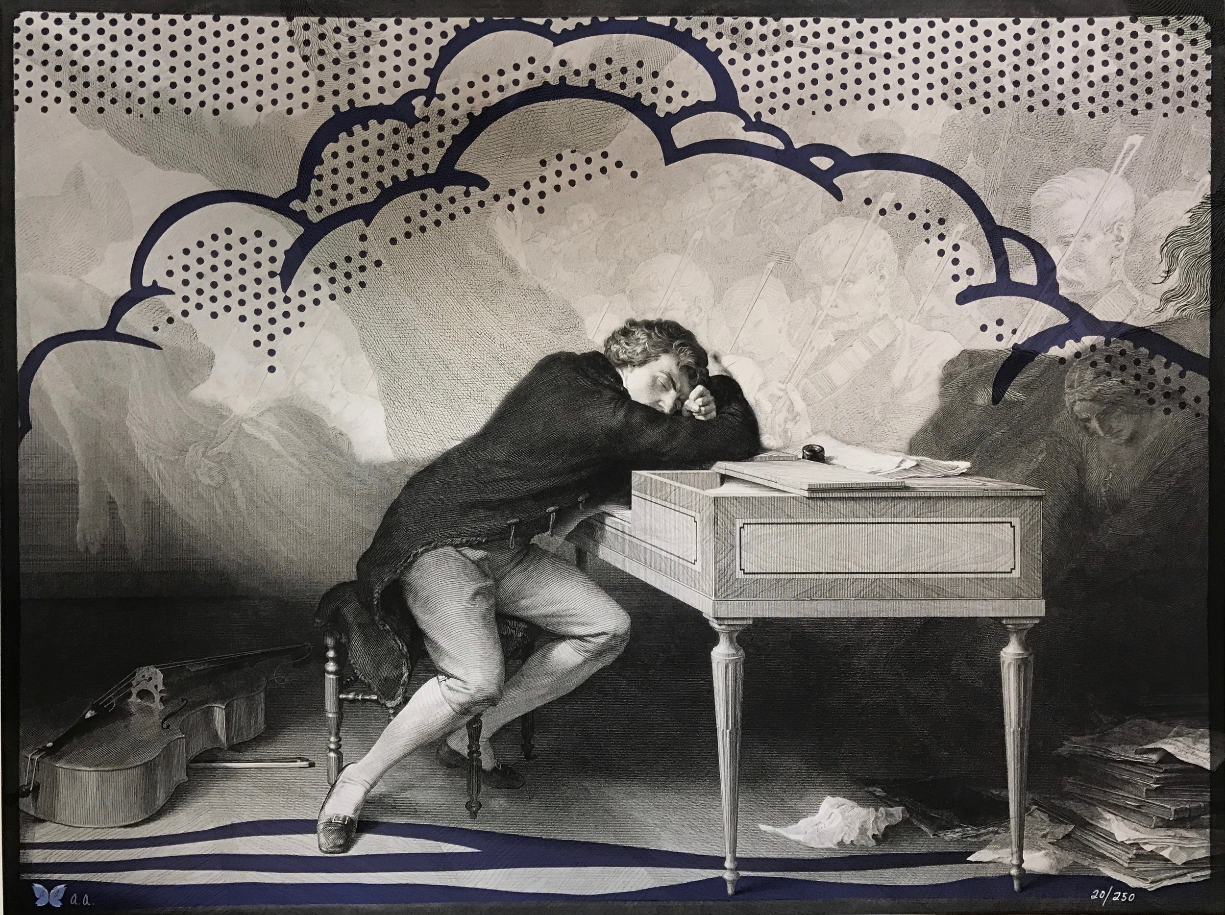 Title: Beethoven in a dream Year: 2016 Medium: PIGMENT PRINT Image size: 24 X 18 in
