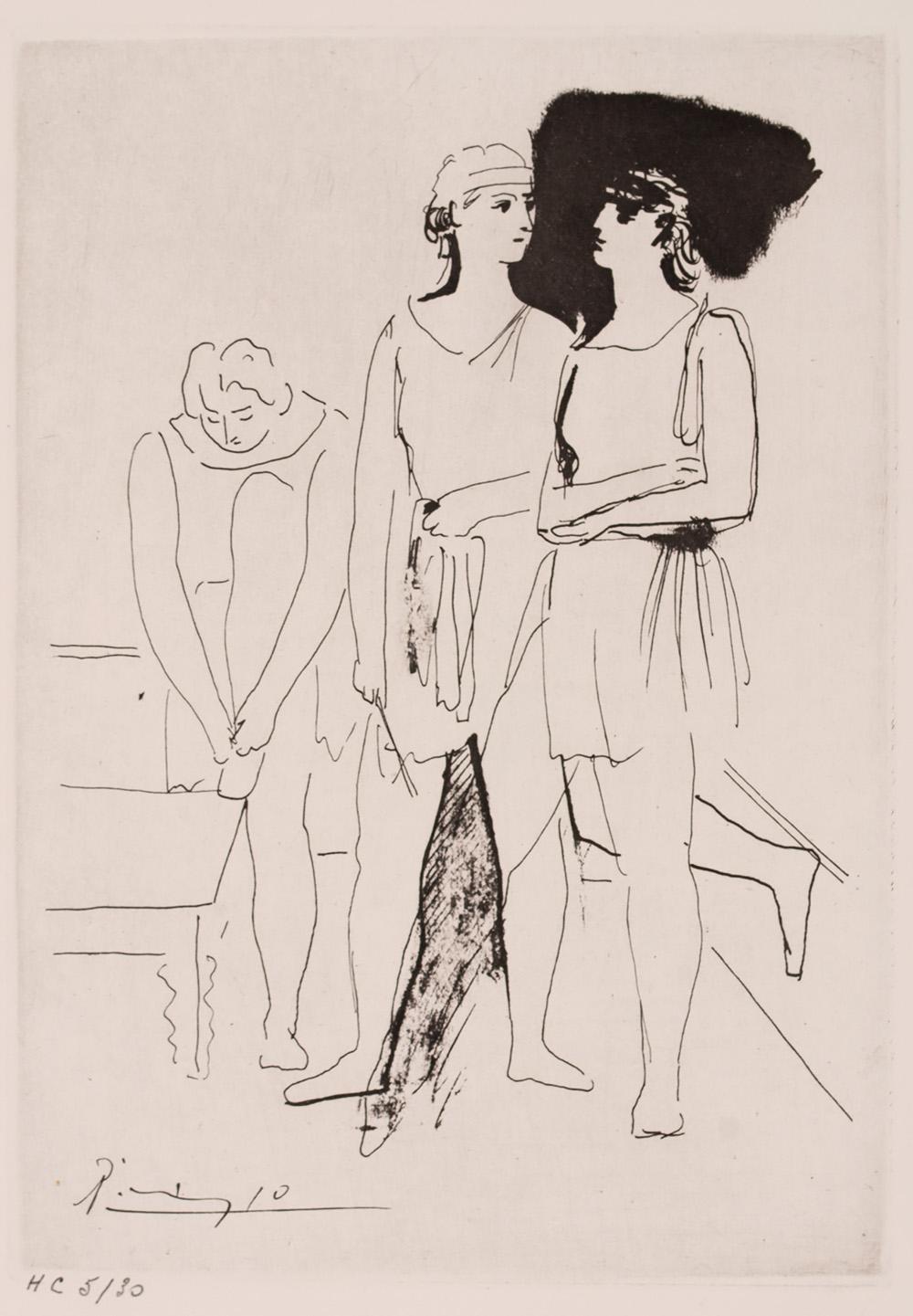 Title: BALLET SERGE LIFAR Year: 1945 Medium: ETCHING Image size: 8.3 X 12 in