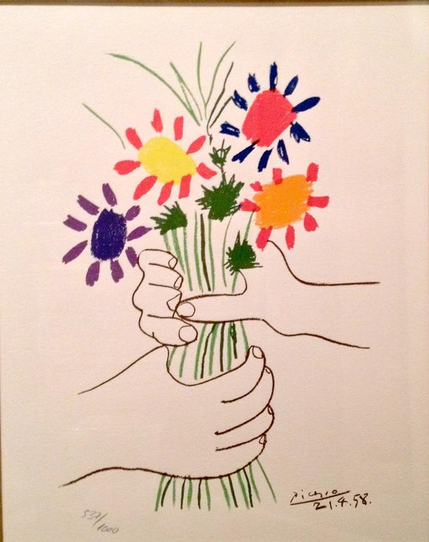Title: LE BOUQUET  Year: 1963 Medium: LITHOGRAPH Image size: 16 X 21.5 in.