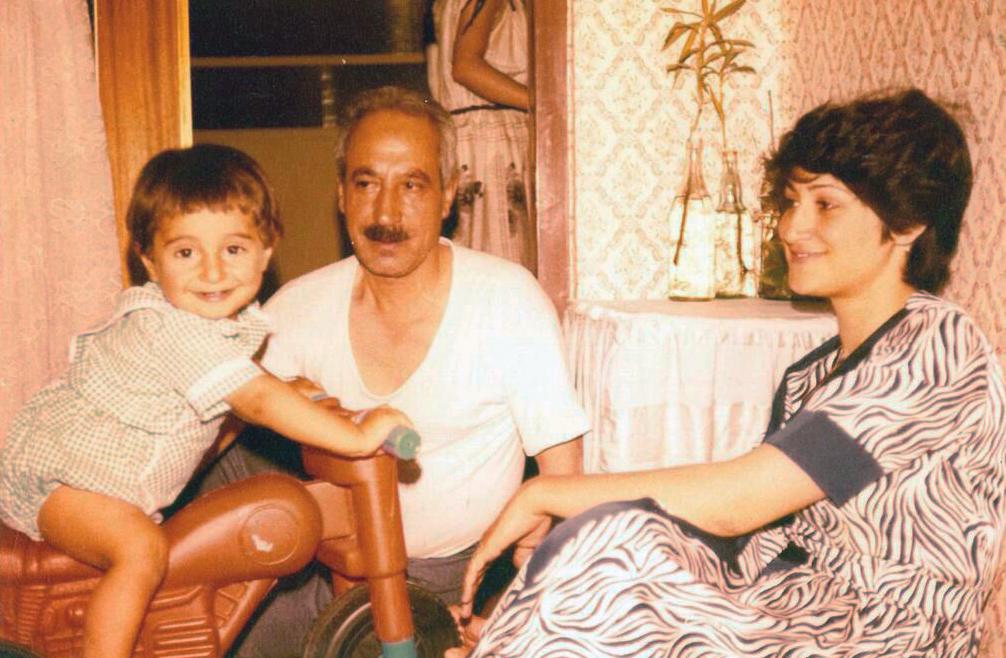 [À moto avec Hababa et ma mère, 1980 Zanjan, Iran]