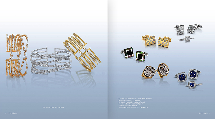 Cellini Jewelers Cufflinks and Bangles Fall Catalog tearsheet.jpg