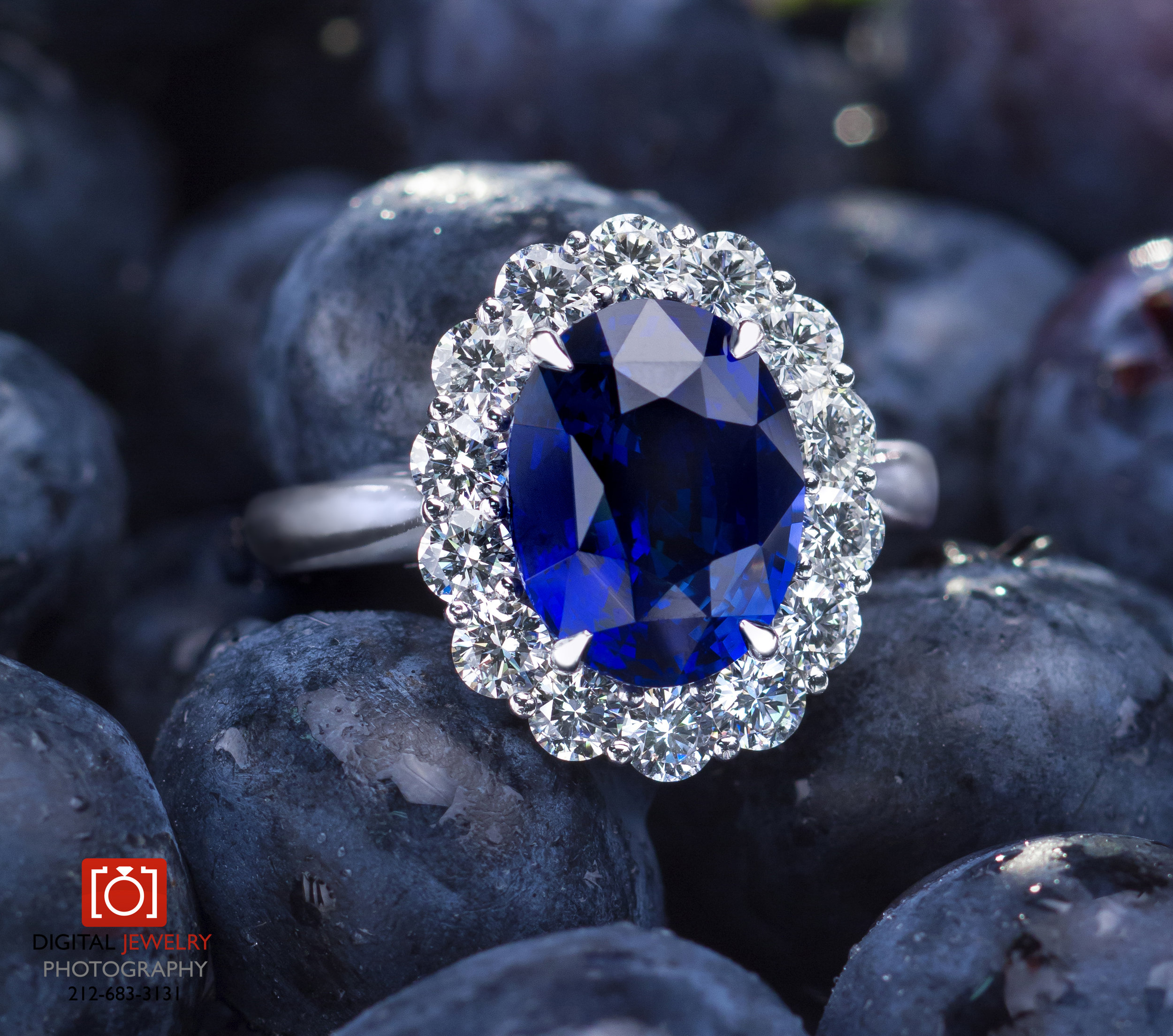 Blue Sapphire Ring in Blueberries.jpg