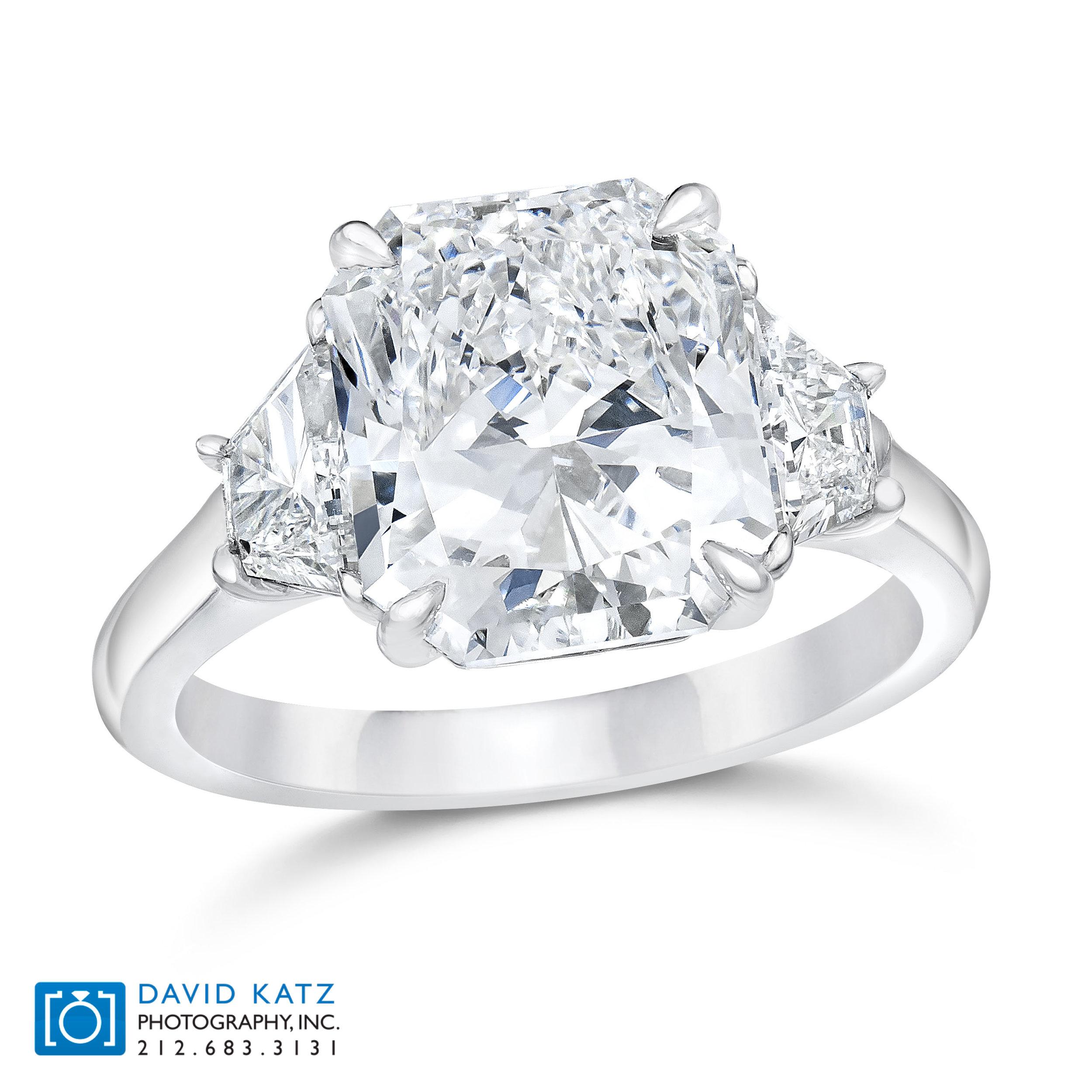 Radiant 3 Stone Diamond Ring Standing.jpg