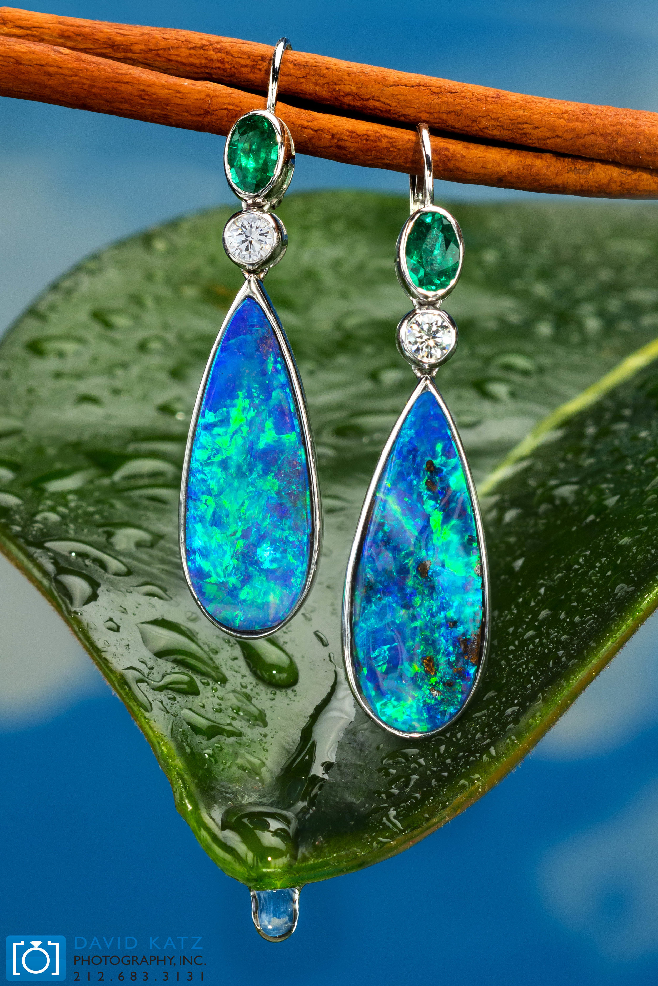 Opal earrings on Leaf with water drop wet_NEWLOGO.jpg