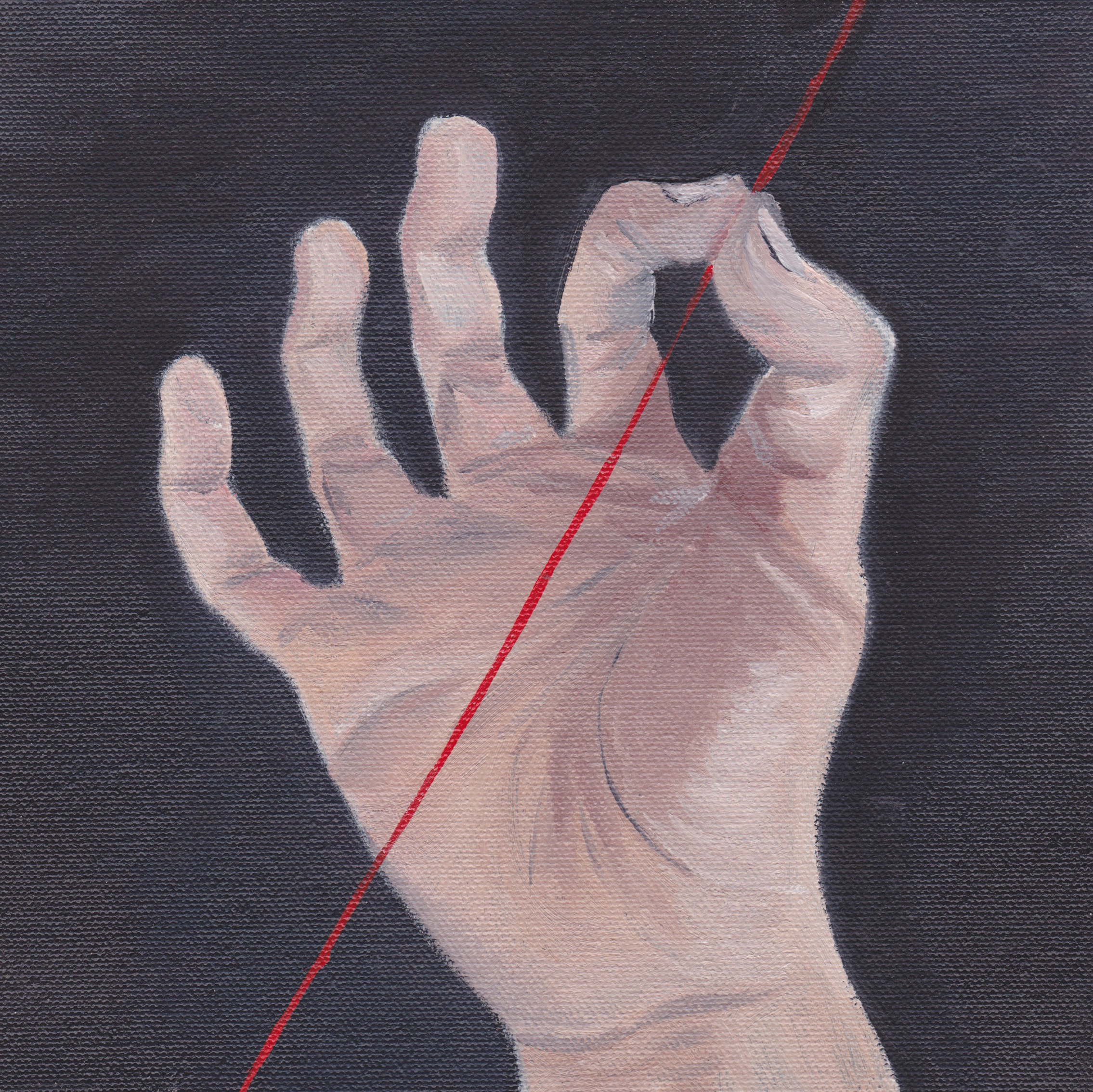 The Red Thread, 2015. Oil on Canvas.