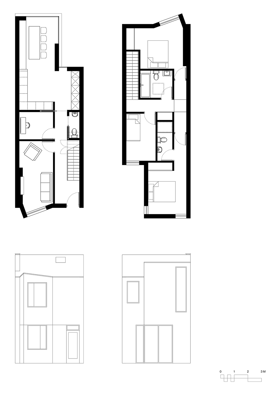 Paul Cashin Architects / Three New Houses, Southampton, Hampshire