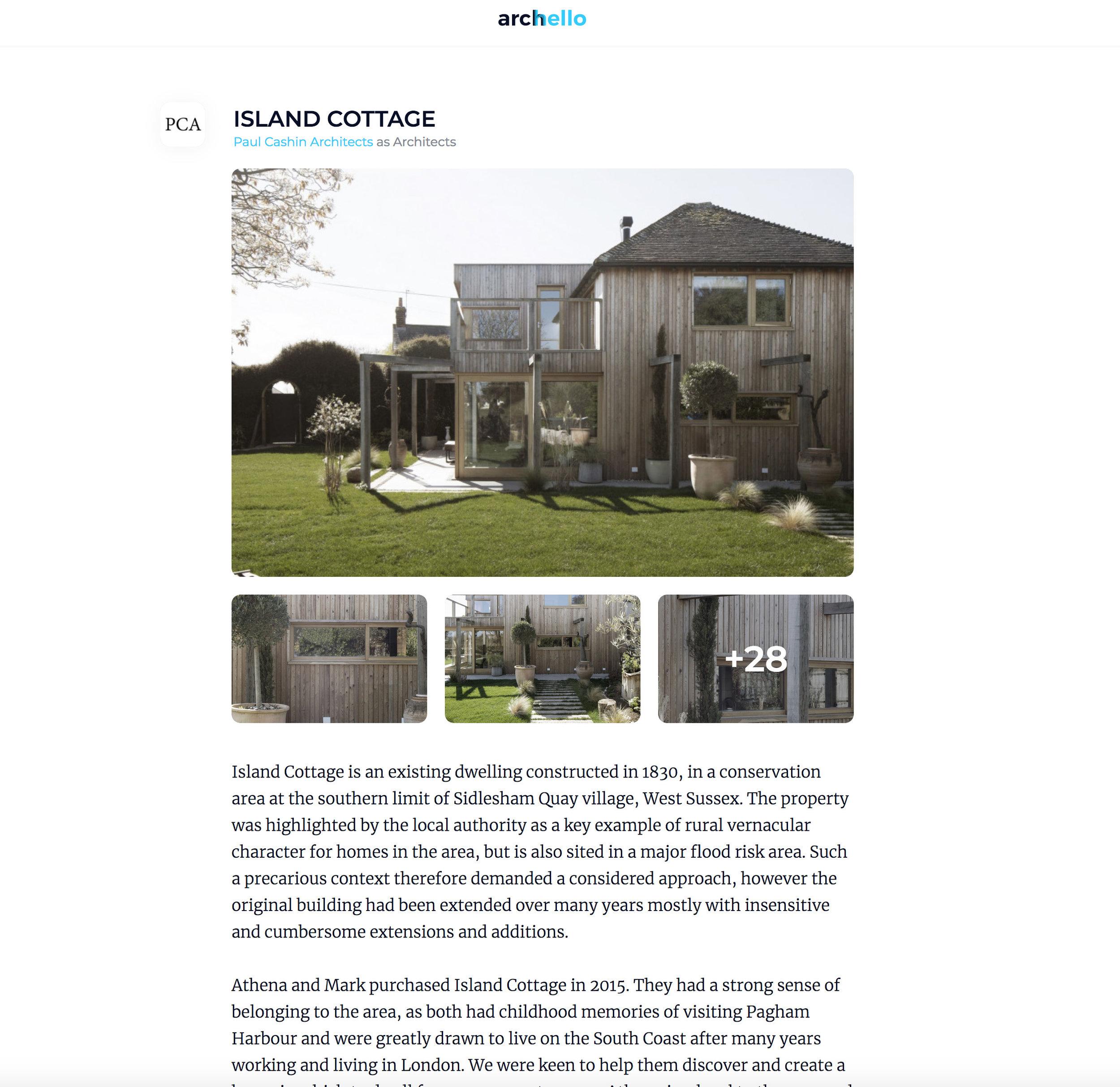 Island Cottage featured in Archello