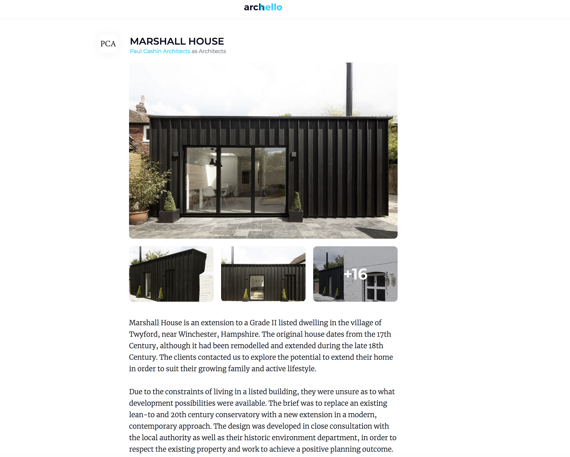 06.19 Marshall House featured on Archello
