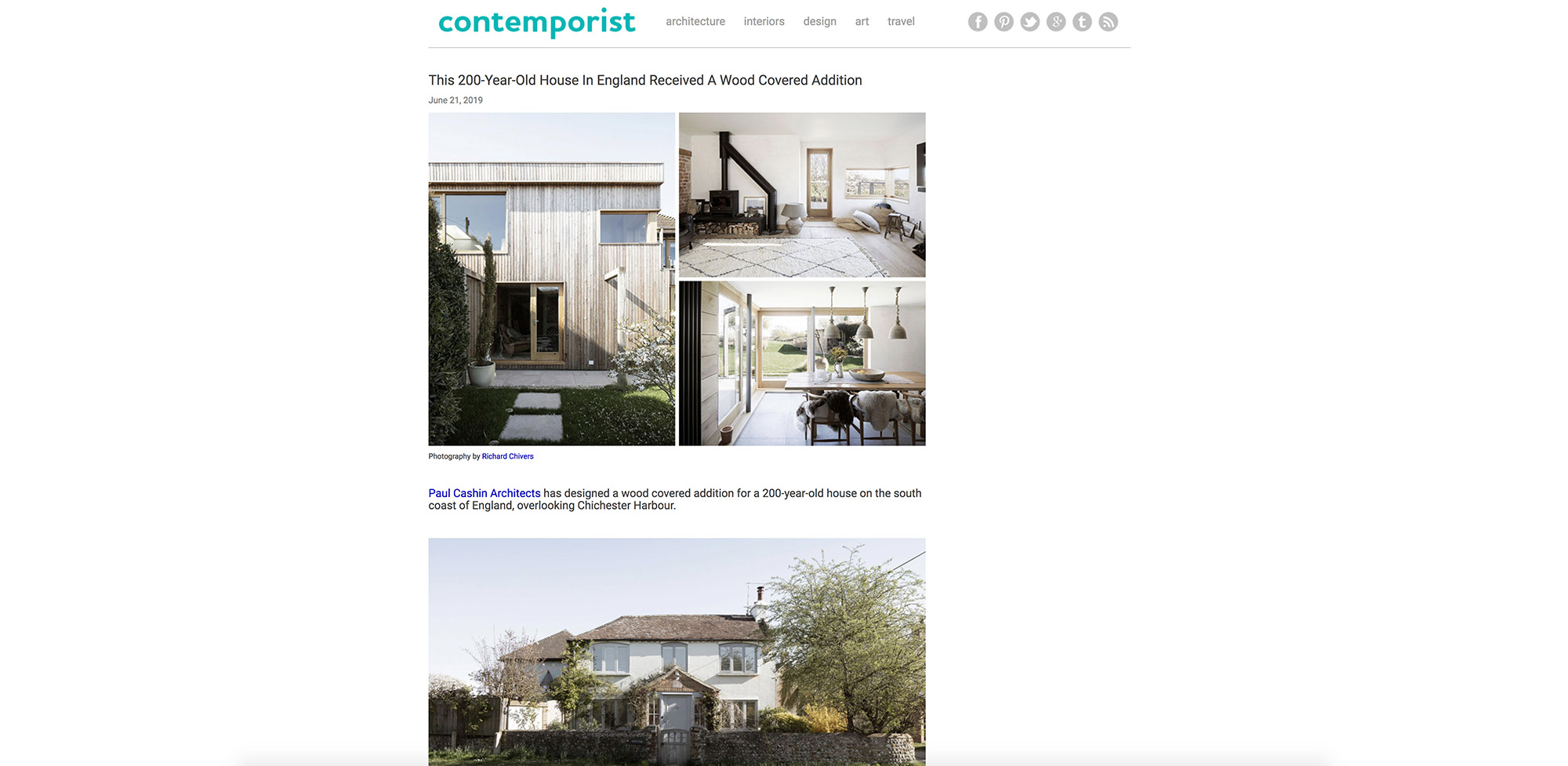 06.19 Island Cottage featured on Contemporist