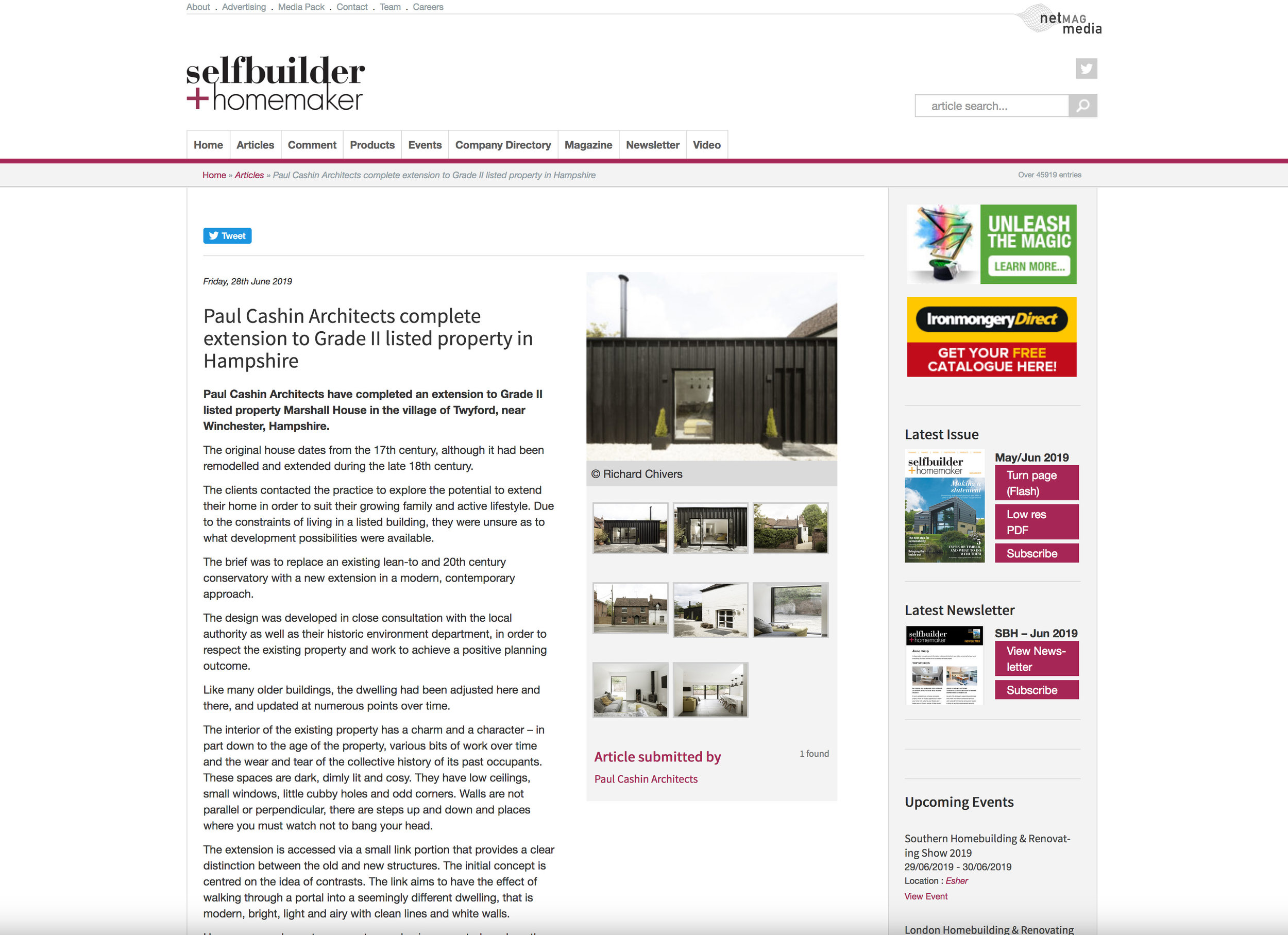 06.19 Marshall House featured in Selfbuilder + Homemaker