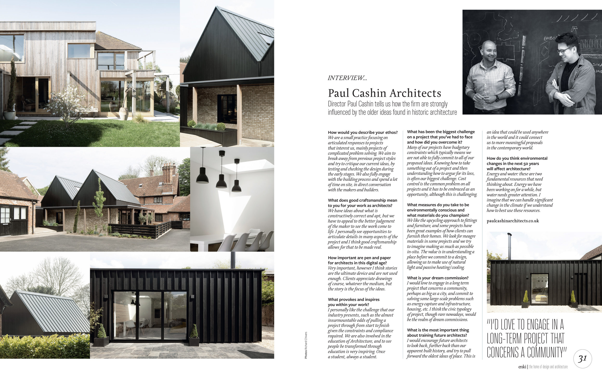 Paul Cashin Architects in Enki Magazine