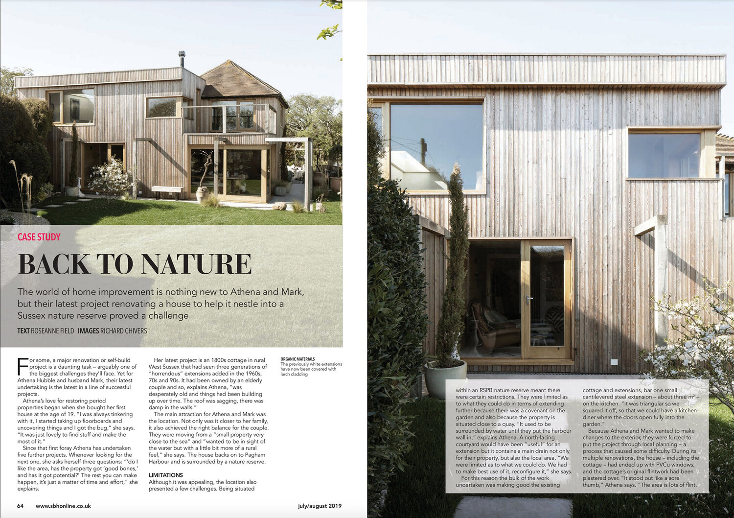 08.19 Island Cottage featured in Selfbuilder + Homemaker Magazine