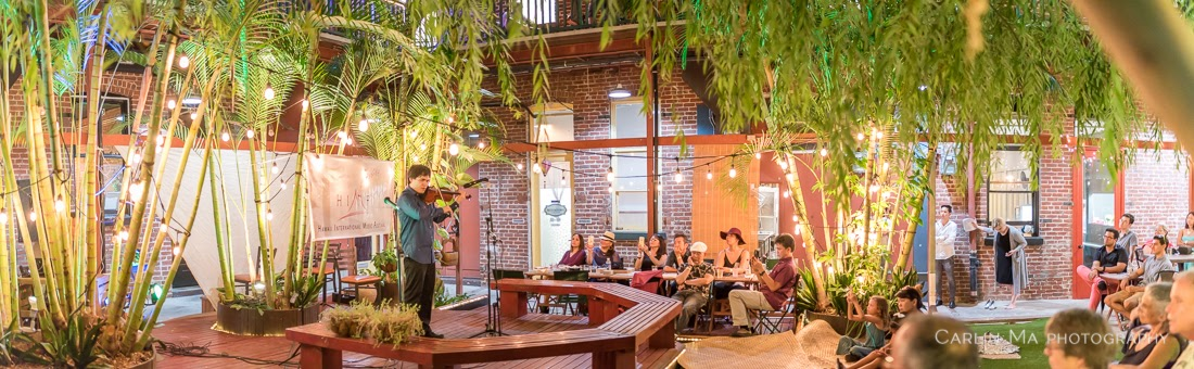 'Ukulele Masters - Dr. Byron Yasui & Benny Chong concert at the Chinatown Artist Lofts co-presented with Arts at Marks Garage. Partnering restaurants Grondin-French Latin Kitchen, Topped Korean Cuisine, and Kona Brewery