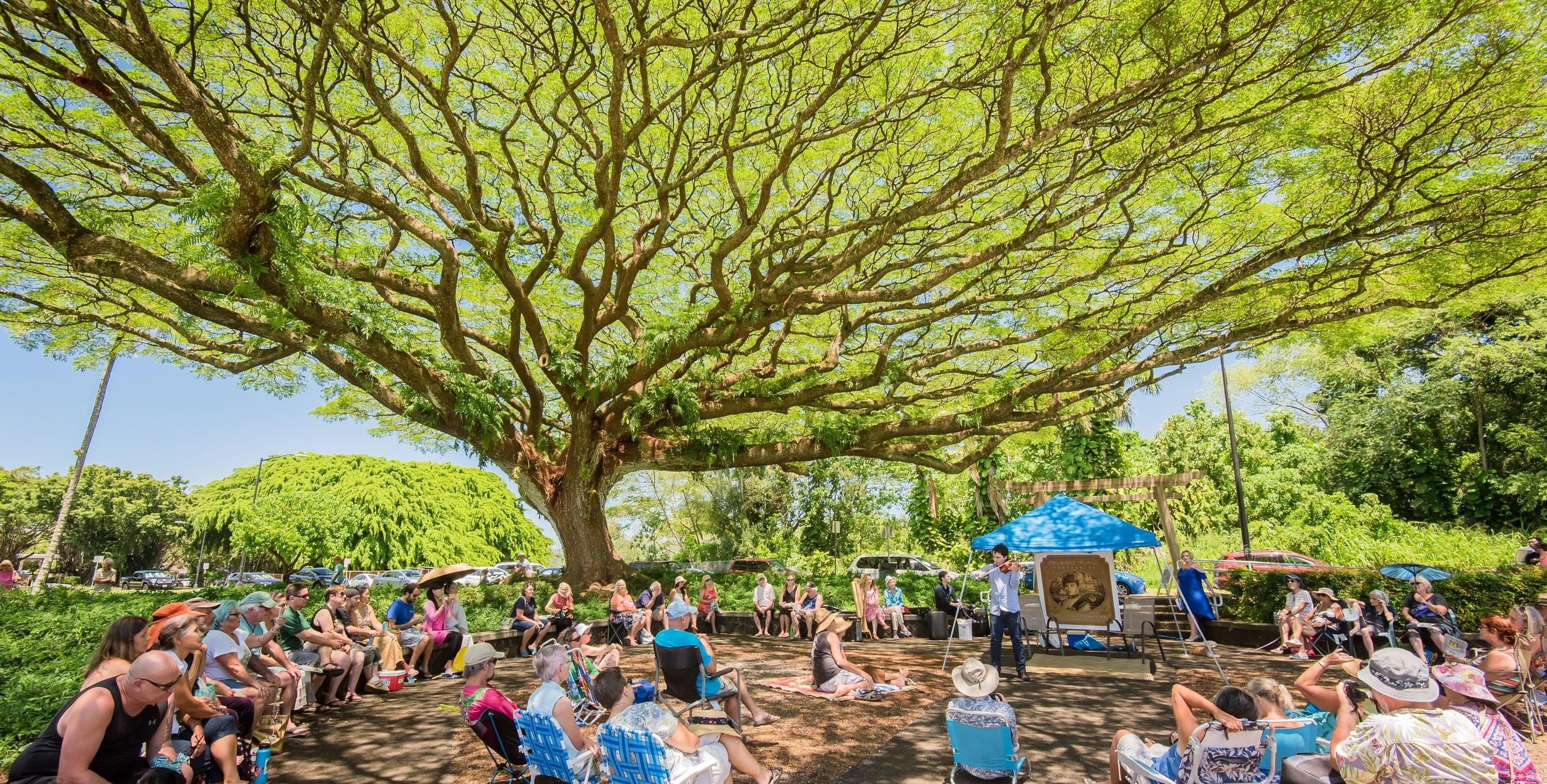 Free concert at the Lili'uokalani Botanical Gardens