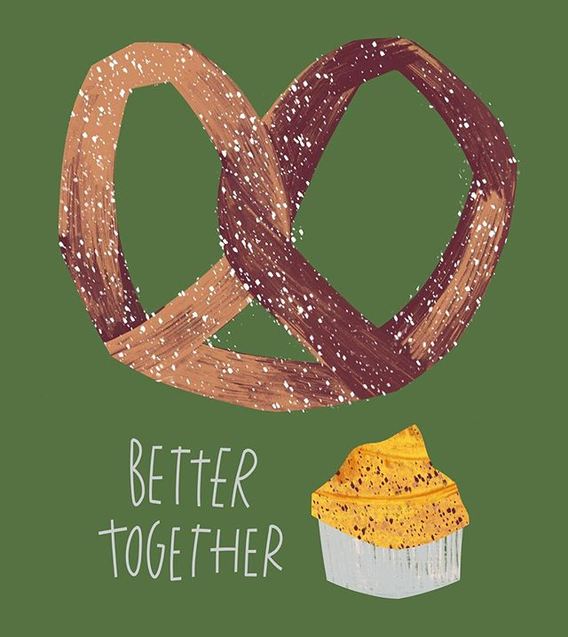 Better Together 🥨💛 for #procreate30 with @stephfizercoleman