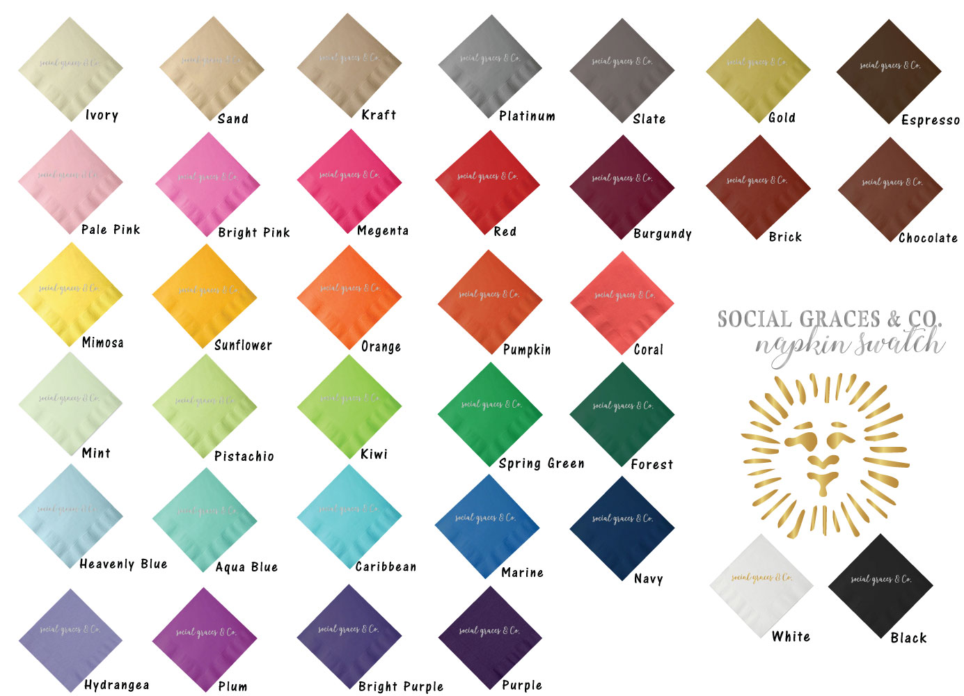select - napkin color