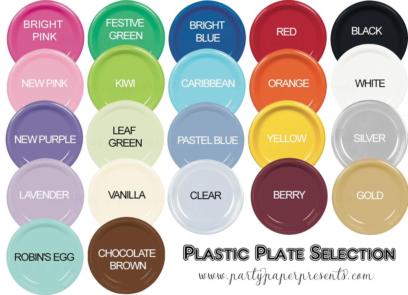 ... - Plate Colors