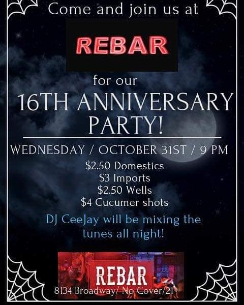 Tomorrow night at Rebar!!