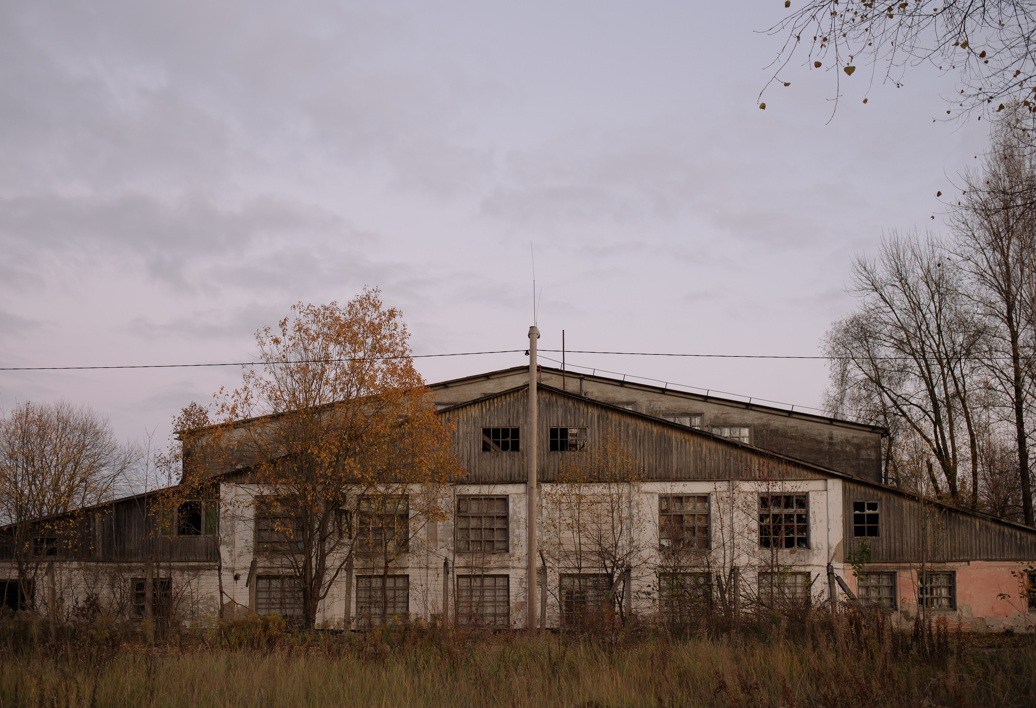 Soon to be demolished Soviet military architecture in Tartu, Estonia. October 2014.