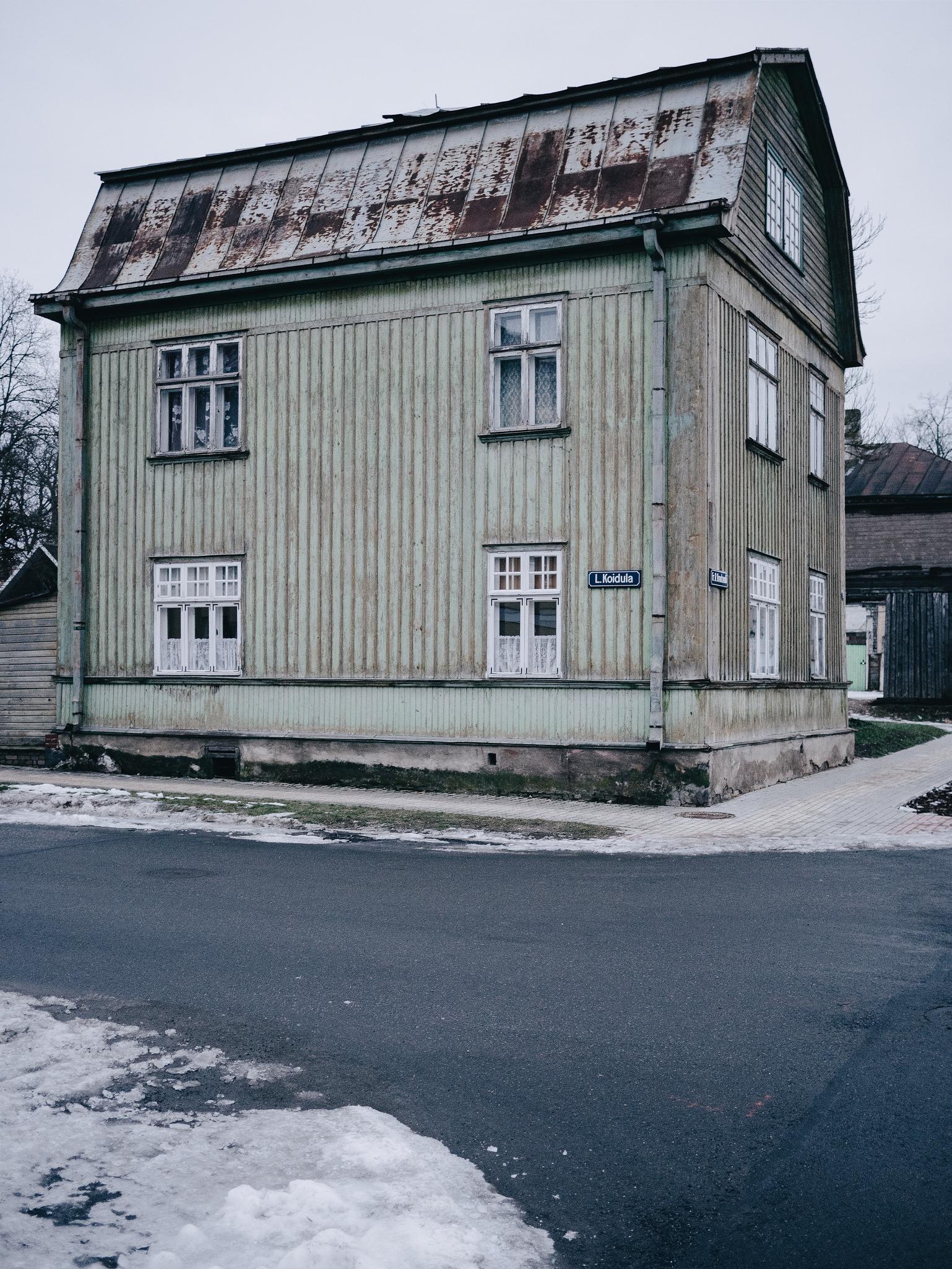 Corner of Koidula & Kreutzwaldi, Võru, Estonia. January 2015.