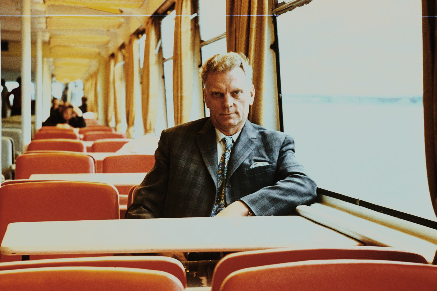 Grandpa on a riverboat. 1970s, Kiev (?)  Unknown photographer.