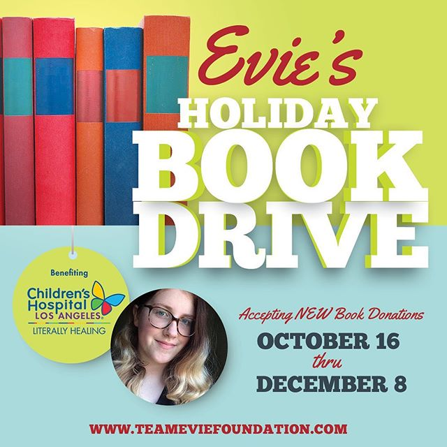 Please consider donating a new book to help benefit the kids at Children's Hospital Los Angeles. We all deserve to have a fun holiday season, this is a great way to make someone's day while you earn your karma points 📚❤️ #holidays #bookdrive #burbank #chla #teamevie #goodkarma #bringsmiles #literallyhealing