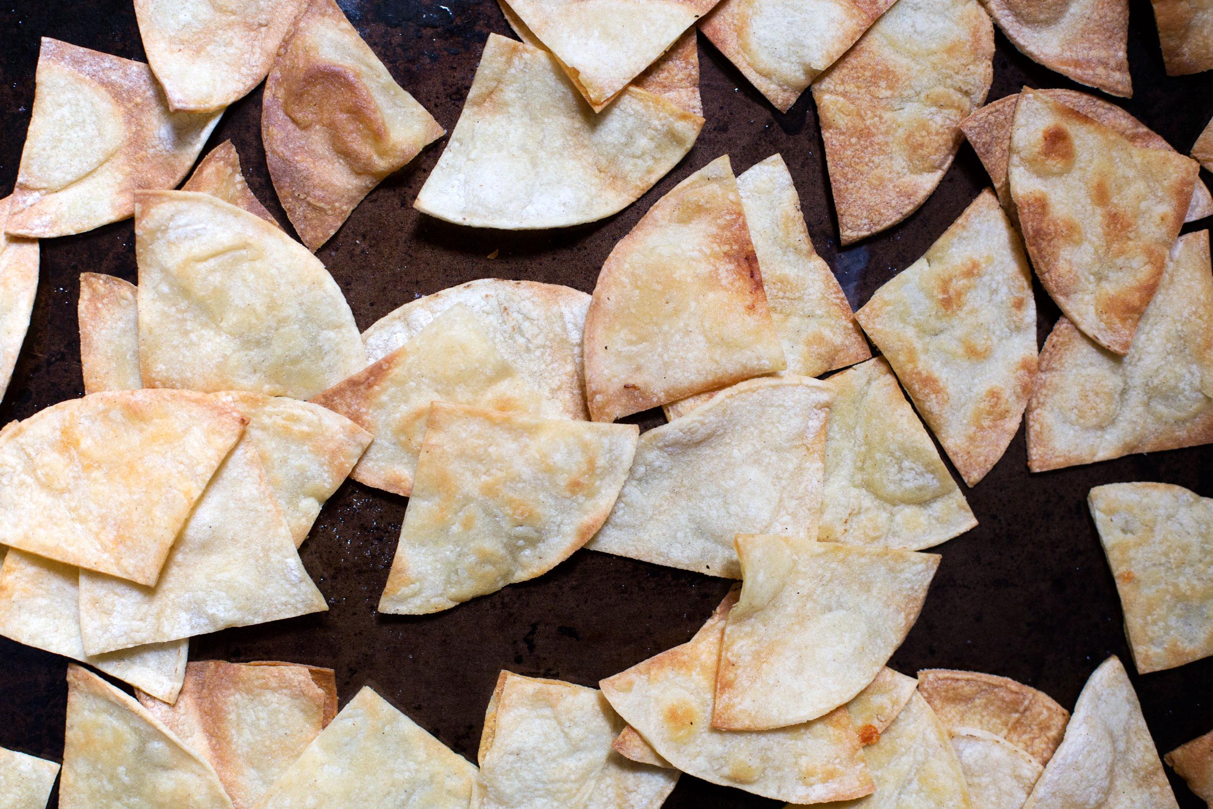 HOMEMADE BAKED TORTILLA CHIPS -