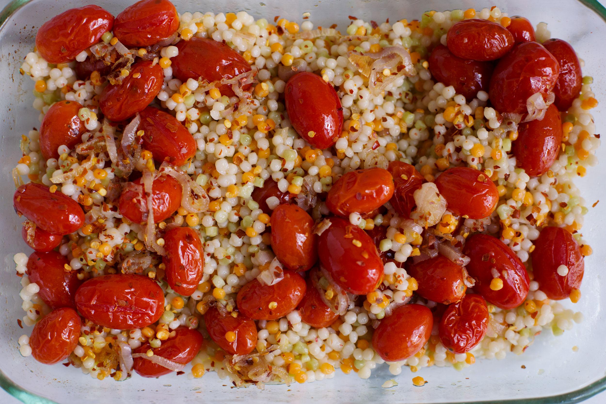 Warm Israeli Couscous Salad