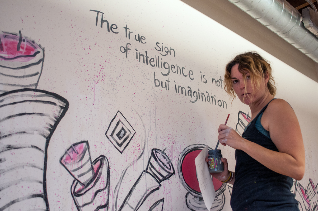 Gloria Painting Quote over PiggyBack Mural.jpg
