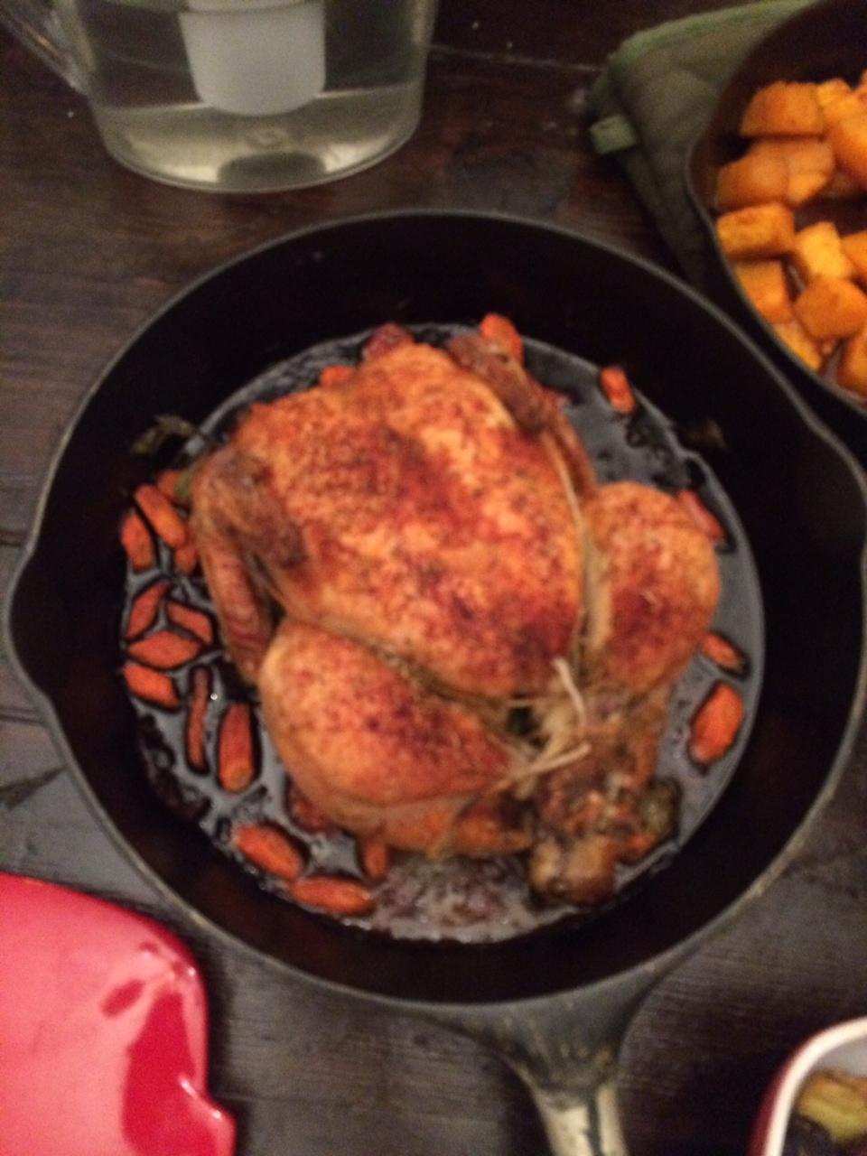Roasted Chicken in Castiron Pan