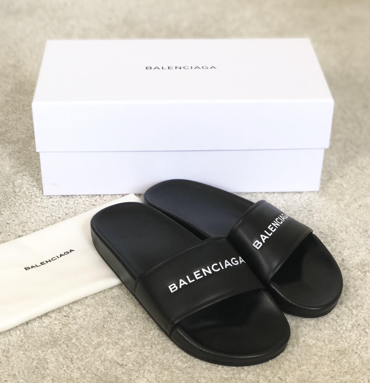 designer pool slide sandals