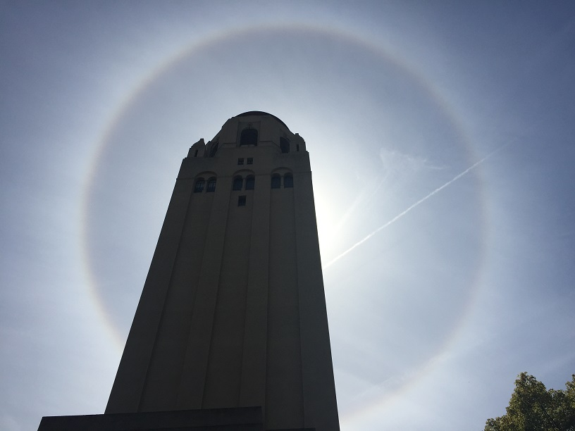 Hoover Tower Halo, Stanford University (Photo by Jeff Weeks)