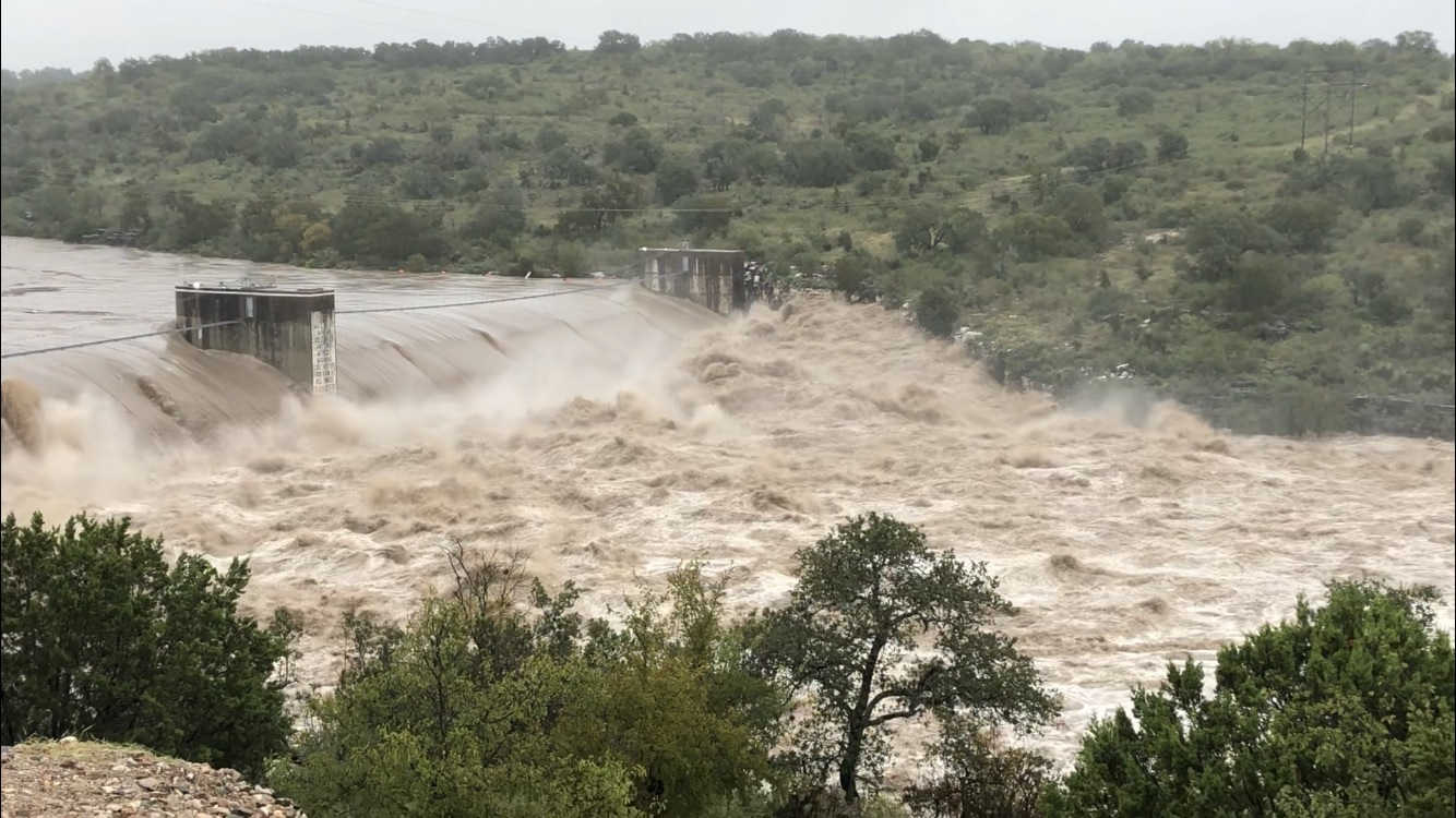 Max Starke Dam on Lake Marble Falls, Tuesday 10/16/2018.