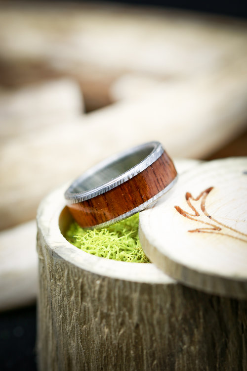 e002b3342614 Copy of Single Channel Koa Wood Mens Wedding Band. Handcrafted by Staghead  Designs.