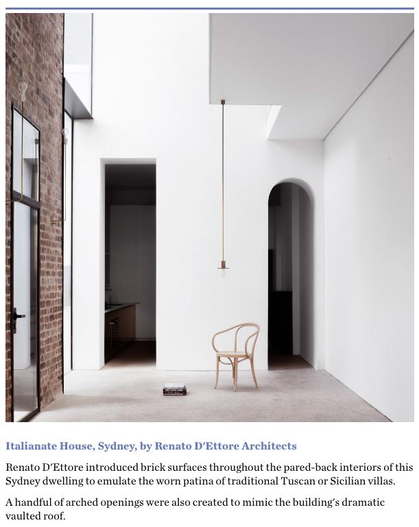 Renato D'Ettorre | Italianate House | Recycled Brick